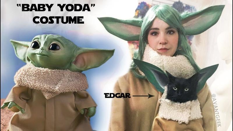 Making a Baby Yoda Costume (Bonus Cat Costume)
