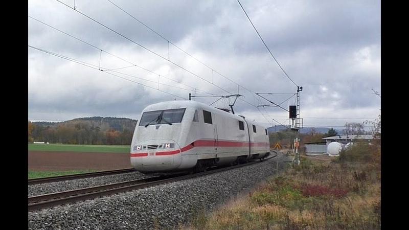 ICE 1 Triebköpfe ohne Zug, HVLE Geisterzug, InfraLeuna, E 10 1309 uvm. auf der Frankenwaldbahn