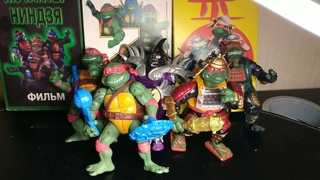 "Фигурки по фильмам:""Черепашки-ниндзя""(199019911993).TMNT film toys."