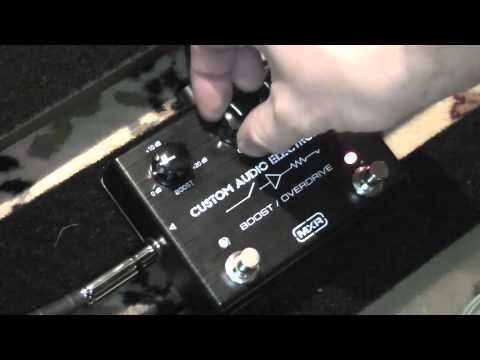 MXR Custom Audio Electronics Boost Overdrive Pedal Demo