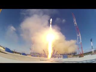 Запуск ракеты-носителя Союз-2 с космодрома Плесецк