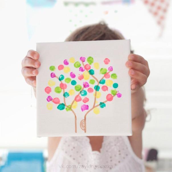 РИСУЕМ ДЕРЕВЦЕ ПАЛЬЧИКАМИ Урок рисования для малышей