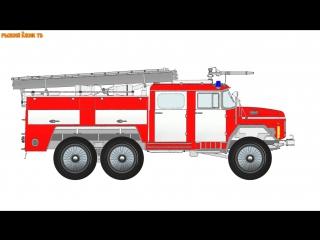 Мультик про КИНДЕР СЮРПРИЗ. Пожарная машинка. Полицейская машинка. Машина скорой помощи