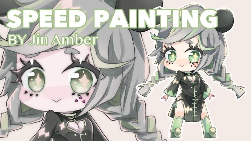 SpeedPaint Chibi Panda Girl Clip Studio Paint