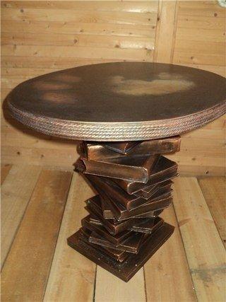 «Винтажный» столик для дачи из старых книг своими руками