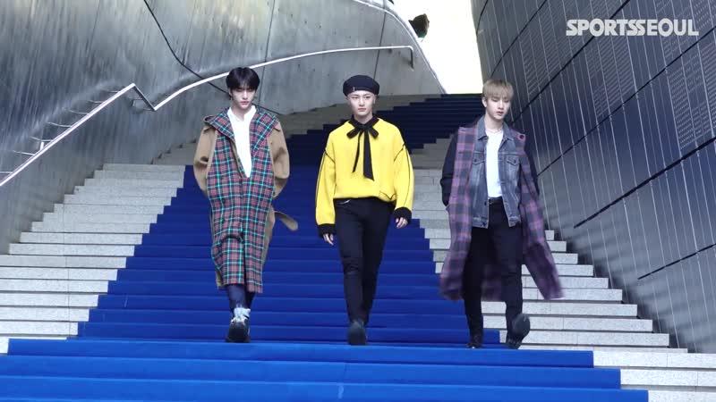 [191017] Stray Kids » Chan, Hyunjin, I.N » Seoul Fashion Week