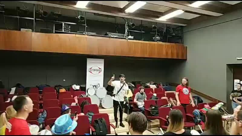Репетиция барабанщиков Московского Самба Фестиваля