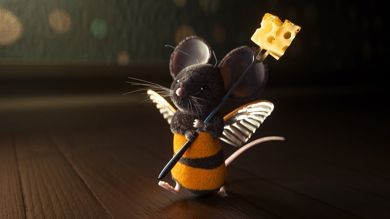 Cinema 4D Tutorial - Using Octane Render to Texture Light a Furry Mouse Scene Part 1