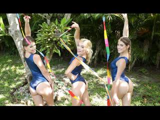 Lea Lee, Kenzie Madison, Katie Kush - Gymnasdick Training     All Sex Yoga Workout Orgy Brazzers Porn Порно