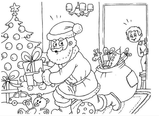 Предлагаю вам интересные для детей на новогоднюю тему - Все фотографии можно распечатать на принтере и раскрашивать как карандашами так и