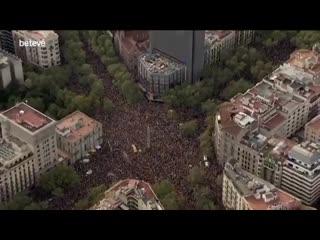 Сторонники независимости Каталонии вышли на акцию протеста