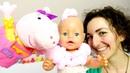 Bambole Baby Born e Peppa Pig Le avventure dei giocattoli Video e giochi per bambini