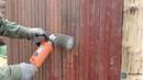 Шлифовка бревна (сухостоя) и снятие старого покрытия с досок. Оживление деревянных поверхностей!