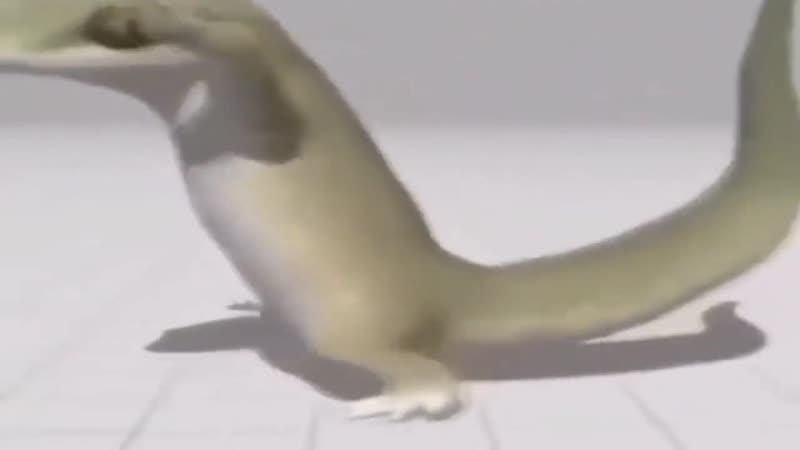 Пиздец ящерица нахуярилась и жёстко зафлексила под моргенштерна