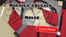 DIY MOLDE MOCHILA CRUZADA. cross man bag