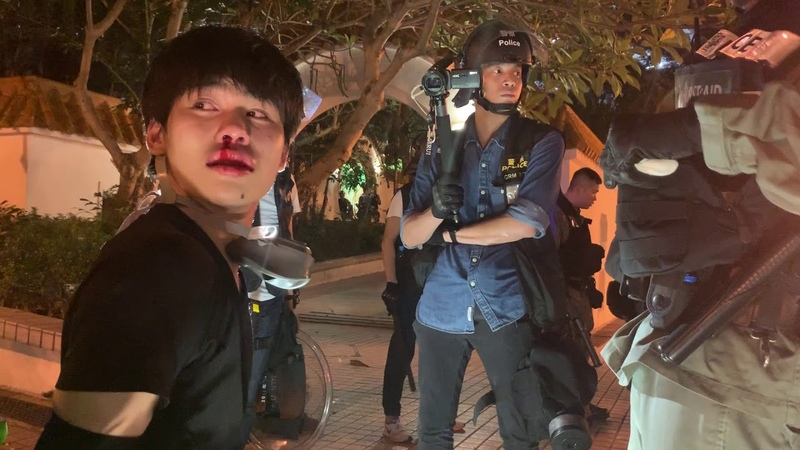 Teens arrested by Hong Kong riot police during Hong Kong protests