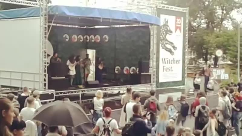 Skogenvard at the witcher fest with cover on the song Isara by Eluveitie