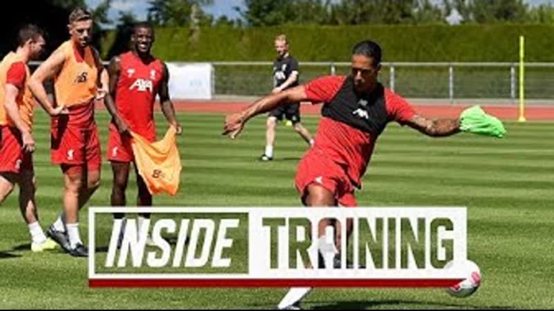 Inside Training Behind-the-scenes from Liverpools shooting practice in Evian