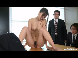 OON, ENF, CMNF  секретаршу в Японии раздевают догола и унижают за секс в кабинете начальника
