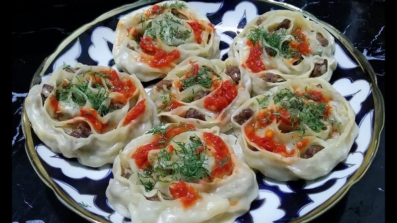 Узбекские манты Как красиво лепить манты Рецепты от узбечки