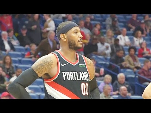 Carmelo Anthony First Trail Blazers Points In Debut! Trail Blazers vs Pelicans 2019 NBA Season