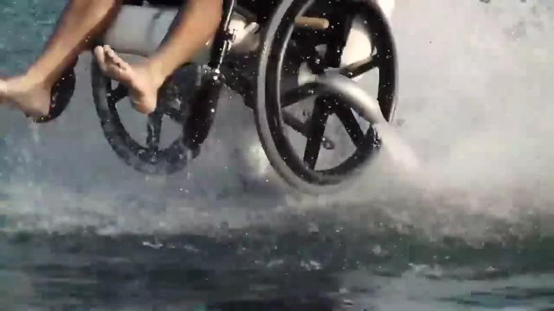 Flyboard en silla de ruedas