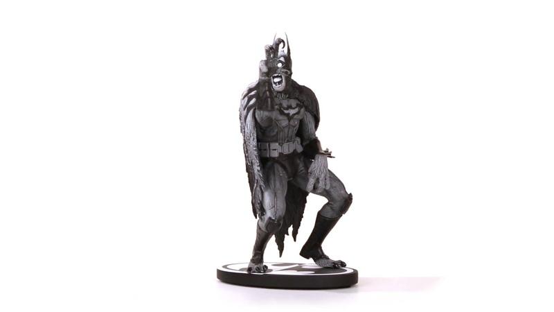 BATMAN BLACK WHITE BATMONSTER BY GREG CAPULLO STATUE