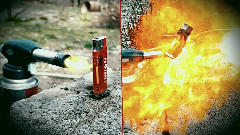 Зажигалка VS Газовая горелка A Gas Torch VS Lighter