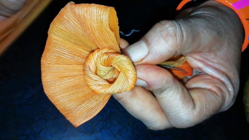 Corn husk flower 🤔😊