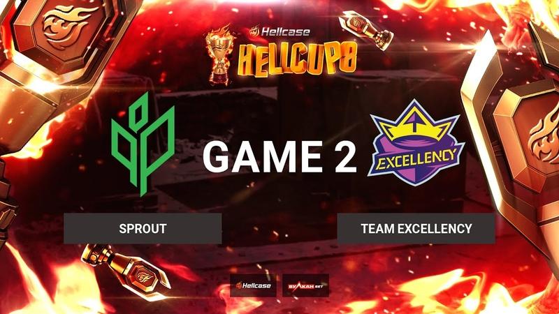 RU Sprout vs Team Excellency Карта 2 Train BO3 Hellcase Cup 8 Группа В