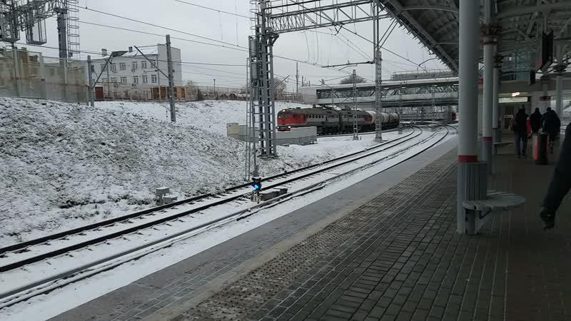 Грузовой поезд вид со станции Андроновка (МЦК)