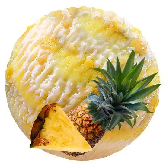 АНАНАСОВОЕ МОРОЖЕНОЕ 0,5 ананаса весом около 300 г, 3/4 стакана ананасового сока, 2 стакана свежих сливок, 2 яйца, 3/4 стакана сахара. Ананас очистить и очень мелко нарезать. Яйца взбить с