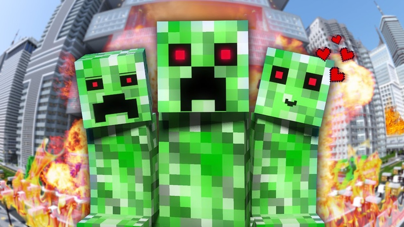 НЯША КРИПЕР Майнкрафт Клип Песня Minecraft Parody Song of PSY's Daddy на русском RUS 13