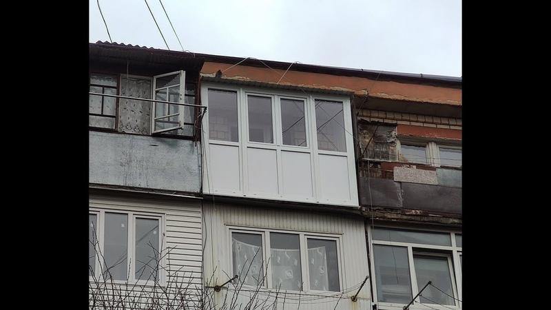 Балкон із закритим дахом, для останніх поверхів з WDS.🛠👌🏻 (БУЛЬВАР ВІКОН ТА ДВЕРЕЙ™)