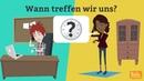 Deutsch lernen mit Dialogen Lektion 9 Was kannst du gut? Uhrzeit