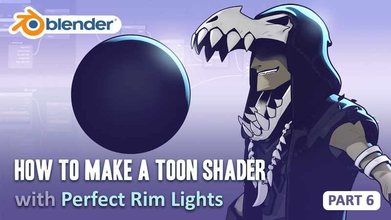 Toon Shader Tutorial Part 6 How to Get Perfect Rim Lights Blender 2 8 EEVEE