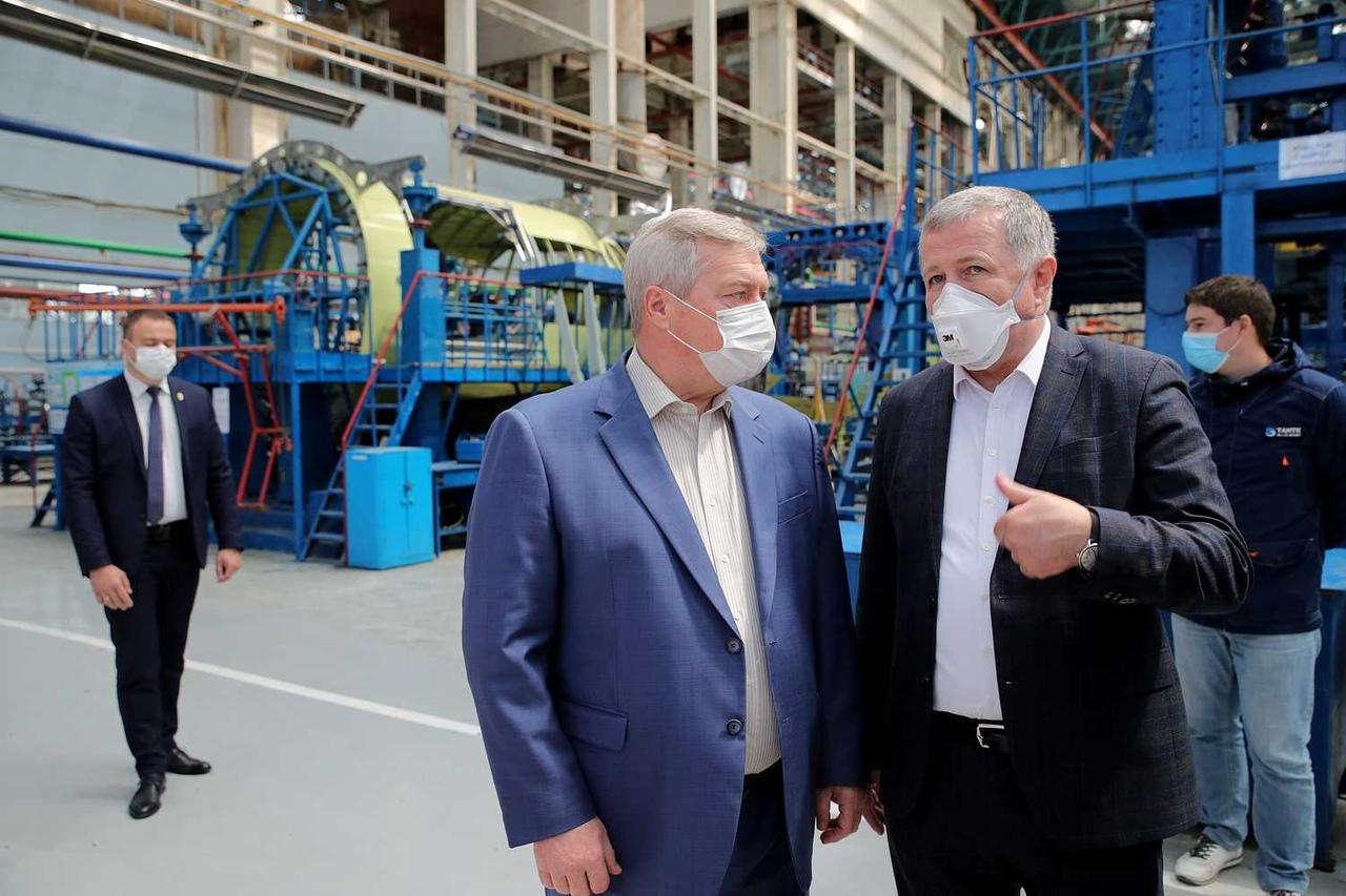 Губернатор Василий Голубев ознакомился с ходом выполнения госзаказа на ТАНТК имени Г.М. Бериева