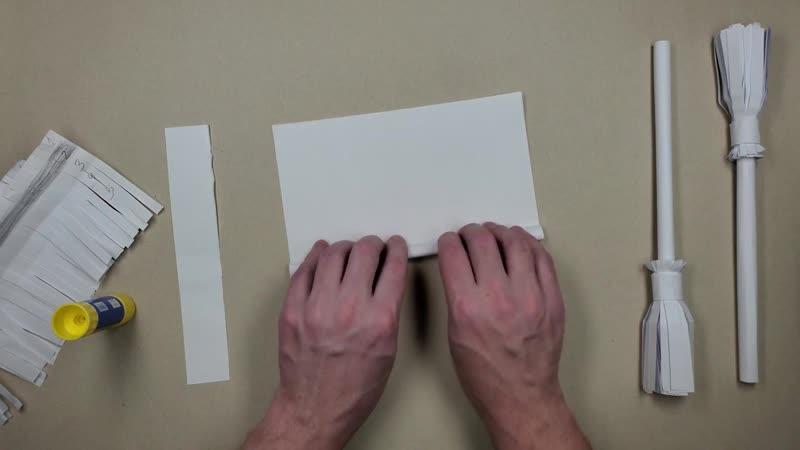 DIY 🧹 Как сделать МЕТЛУ из бумаги а4 своими руками