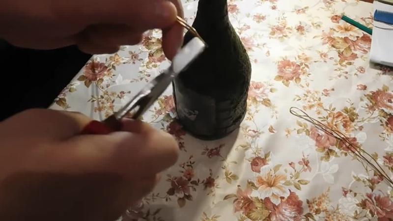 Декупаж бутылки Башня Дракона