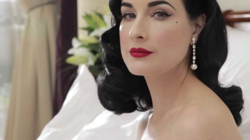 Sorbet Magazine In Bed with Dita Von Teese