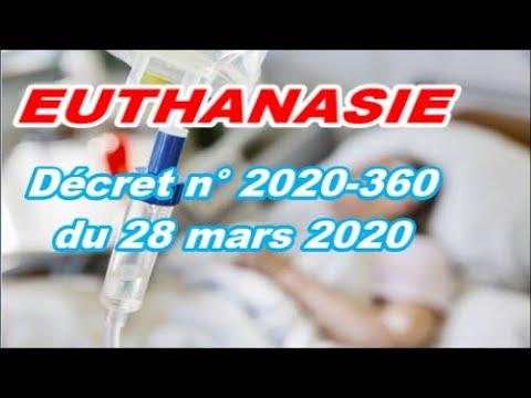 URGENT CHOC EUTHANASIE des Vieux Décret n° 2020 360 du 28 mars 2020