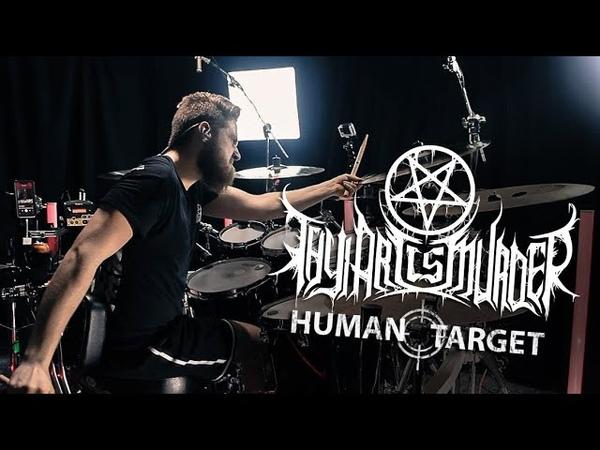 Thy Art Is Murder Human Target Drum Cover