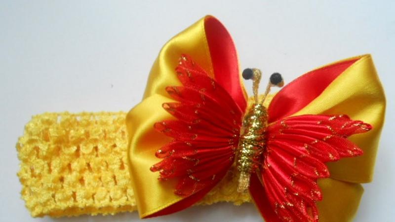 Бантик для девочки МК Bow for the girl Arco para a menina РАР Arco de mariposa