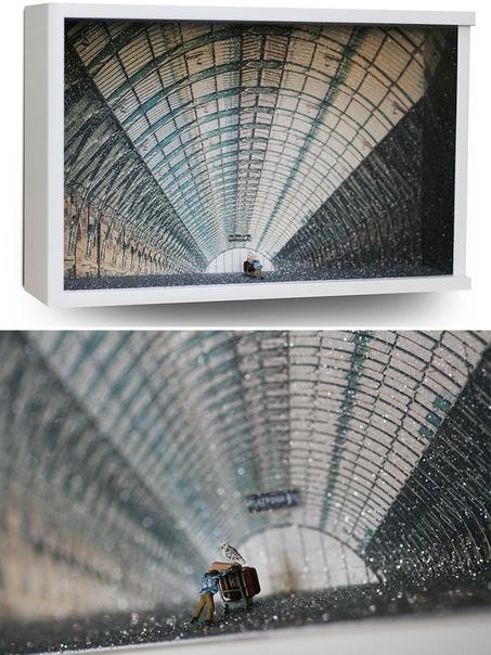 Художница Лиза Сверлинг специализируется на создании диорам картин с предметным передним планом Вдохновением для нескольких ее поделок стали культовые кинокартины. По словам самой художницы,