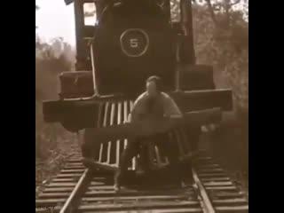 Вот это раньше были машинисты..