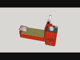Печь-ракета с лежанкой и плитой. Своими руками, чертеж прилагается