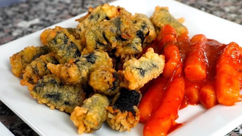 Crispy Seaweed Noodle Rolls Gimmari 김말이