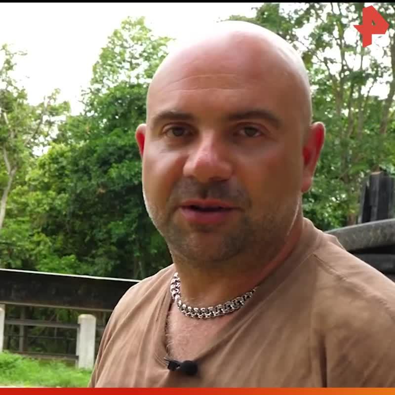 Тимофей Баженов посетил реабилитационный центр для слонов / #РЕНТВ