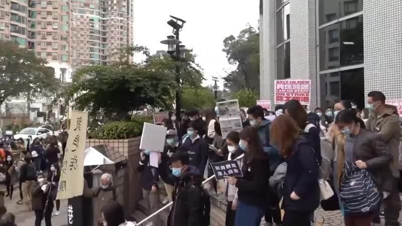 Streik Mediziner Schwestern in Hongkong