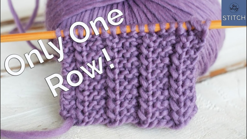 One Row knitting stitch Easy, reversible and it doesnt roll (great for scarves)!